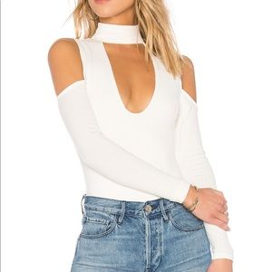 NEW Privacy Please White Ribbed Bodysuit
